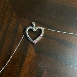Kay jewelers Pink heart necklace